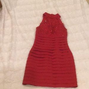 Sherri Hill banded prom dress.